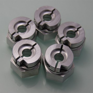 CNC turning assembled aluminum parts