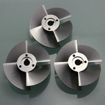 Aluminum impeller 5Axis Turned & Milled Parts