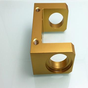 Anodiz Golden Aluminum CNC Components